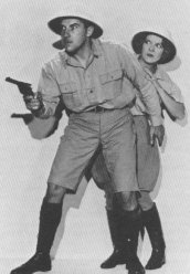 Tarzan Radio Stars Gale Gordon and Joan Burroughs Pierce